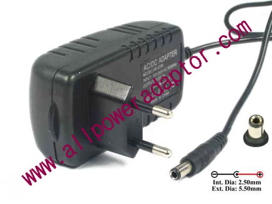 APD / Asian Power Devices WA-18J12 AC Adapter 5V-12V EU 2-Pin Plug