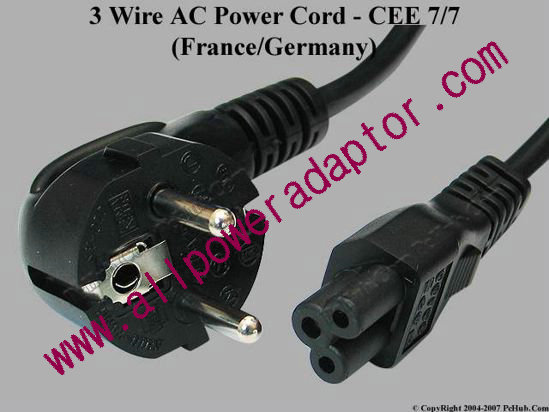CEE 7/7 Power Cord - 3 Wire (French/German) [CEE 7/7 Power