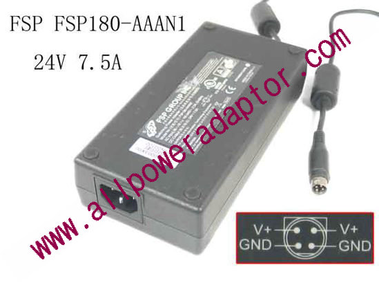 Accessory USA 3-Pin DIN AC//DC Adapter for FSP Group Inc 9NA1800722 3 Prong Connector Switching Power Supply Cord FSP180-ABAN1 P//N